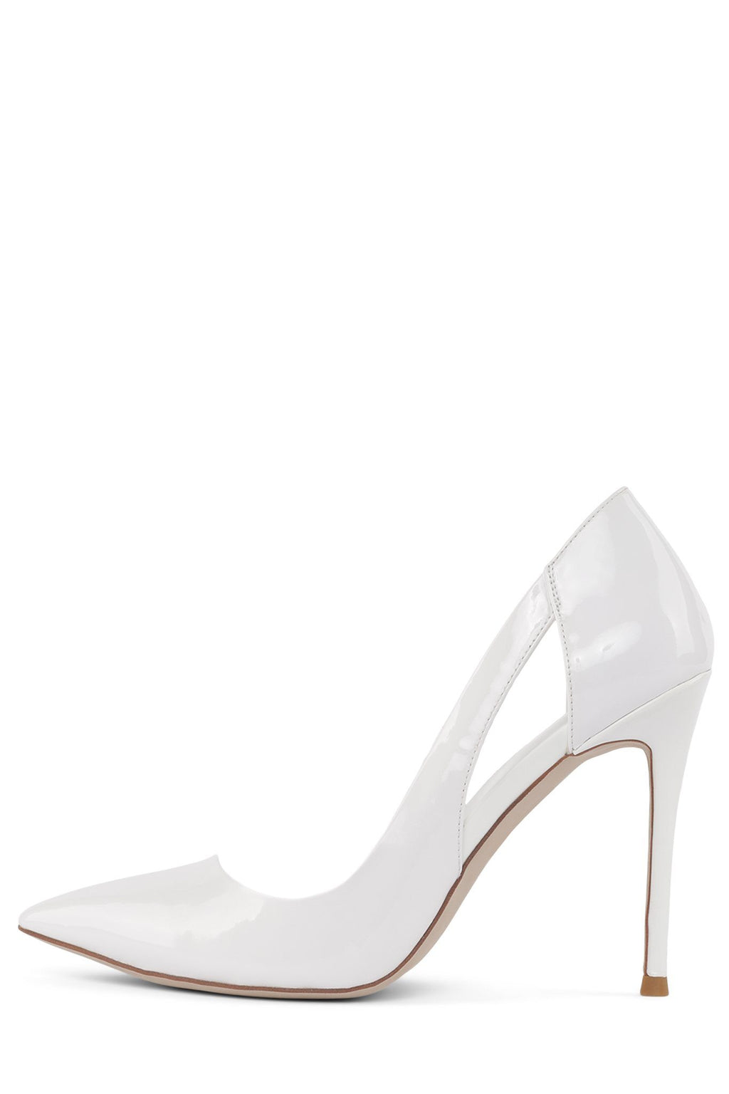 ALURE Pump Jeffrey Campbell White Patent 6