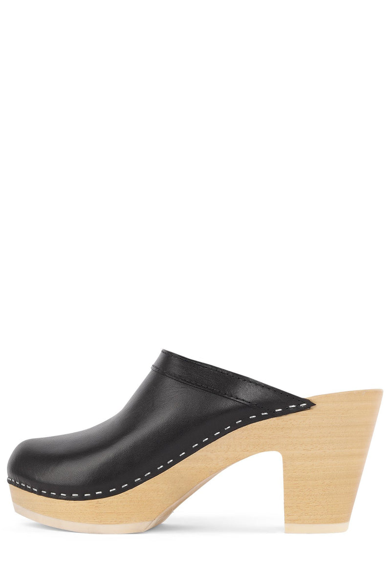 ALYSSE Heeled Mule Jeffrey Campbell Black 35