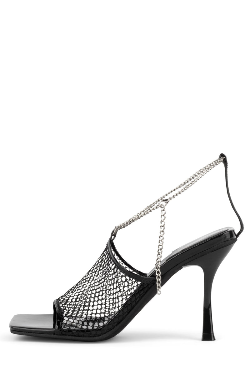 AMELINE-MS Heeled Sandal YYH Black 6