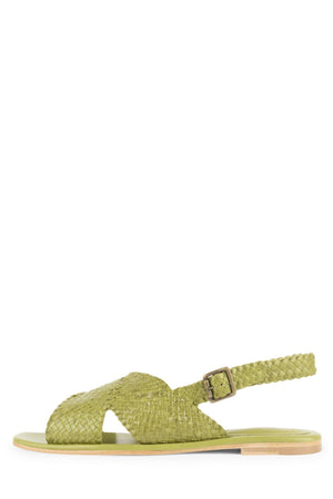 AMES Flat Sandal Jeffrey Campbell Green 6