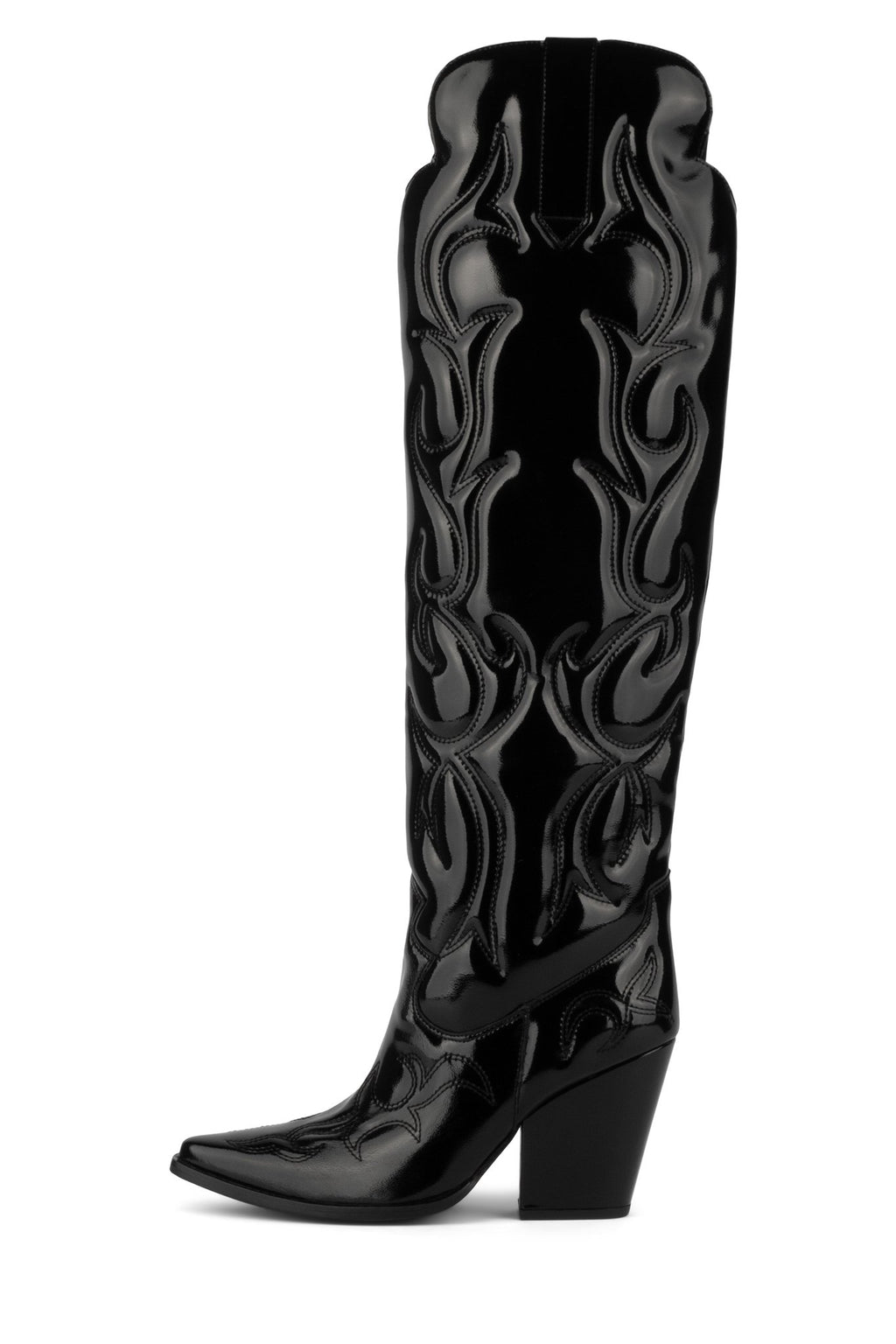 AMIGOS-LO OTK Boot YYH Black Crinkle Patent 6