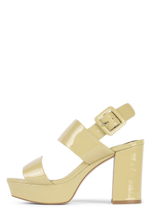 AMMALY Jeffrey Campbell Dusty Yellow Patent 5