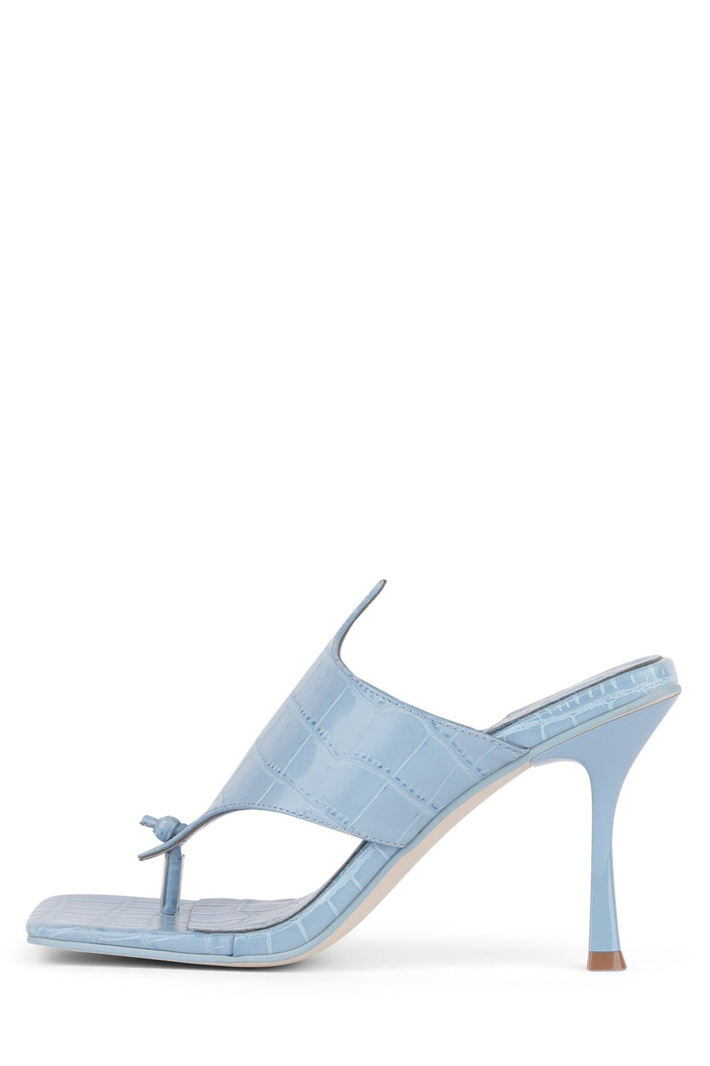 AMORES Heeled Sandal YYH Blue Croco 6