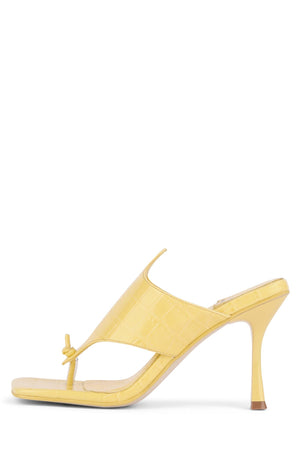 AMORES Heeled Sandal YYH Yellow Croco 6