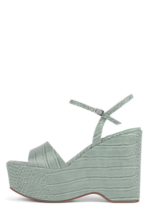 ANAMARIA Wedge Sandal YYH Mint Croco 6
