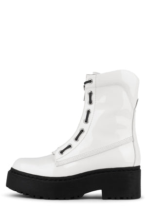 ANARCHO Boot Jeffrey Campbell White Patent 6