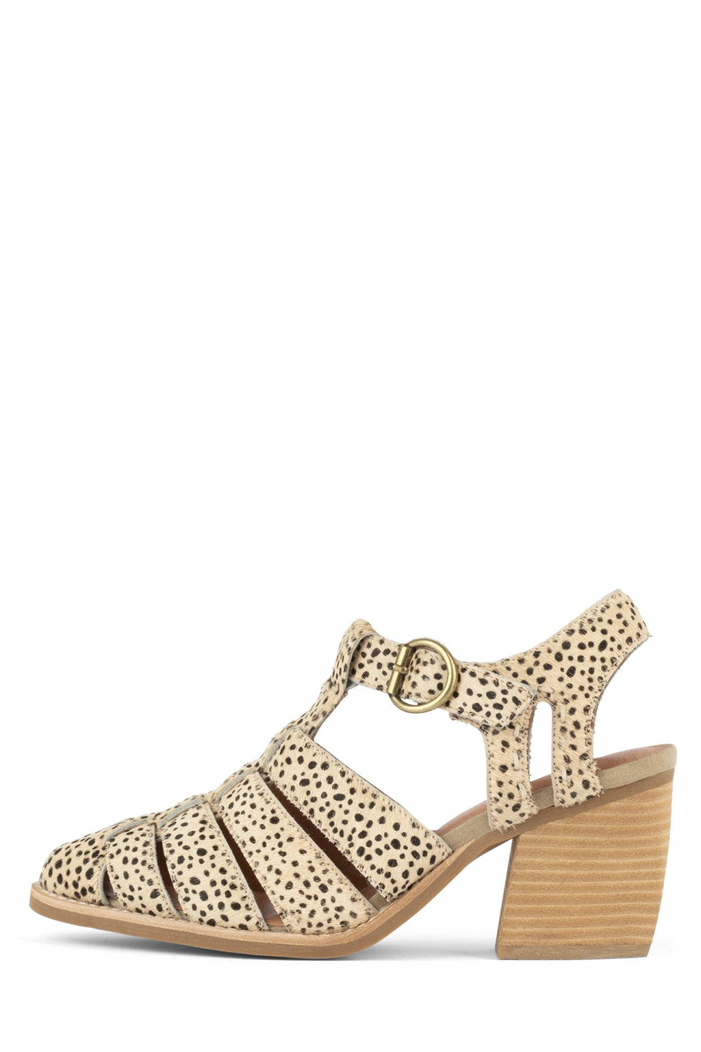 ANGORA-F Bootie Jeffrey Campbell Brown Beige Jaguar 6