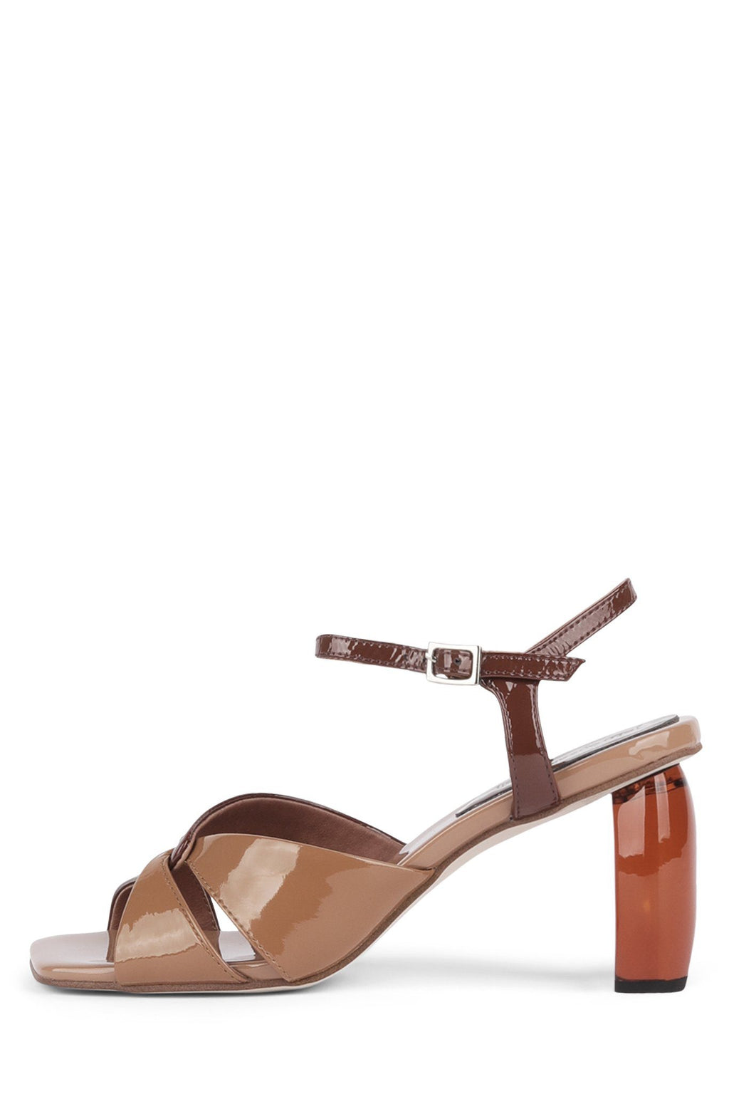 ANTIQUE-2 Heeled Sandal YYH Nude Pat Multi Brown 6