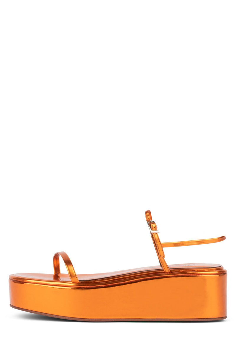 APRESMIDI Platform Sandal YYH Orange Metallic 6