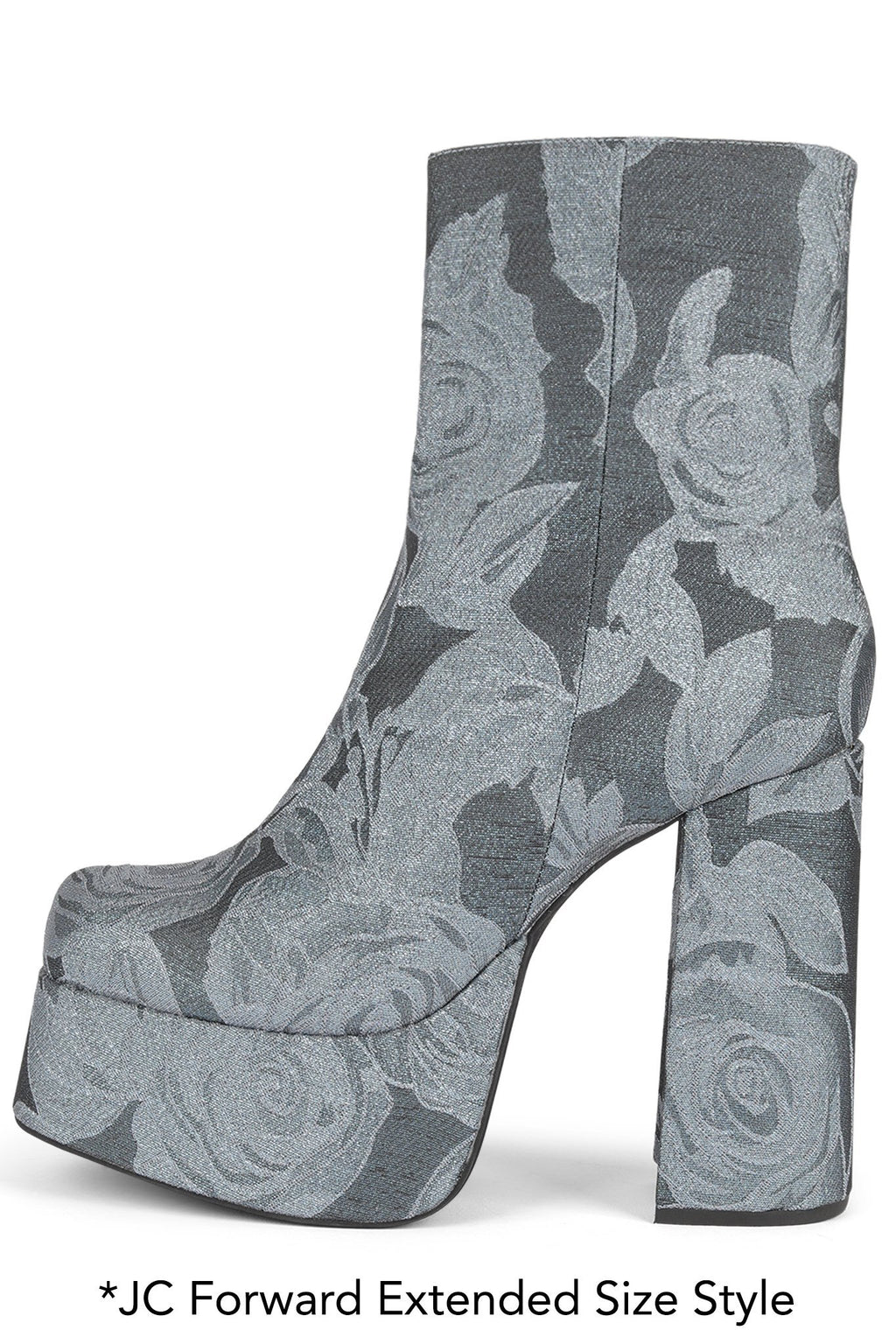 ARANEAE Platform Boot HS Green Rose Fabric 12