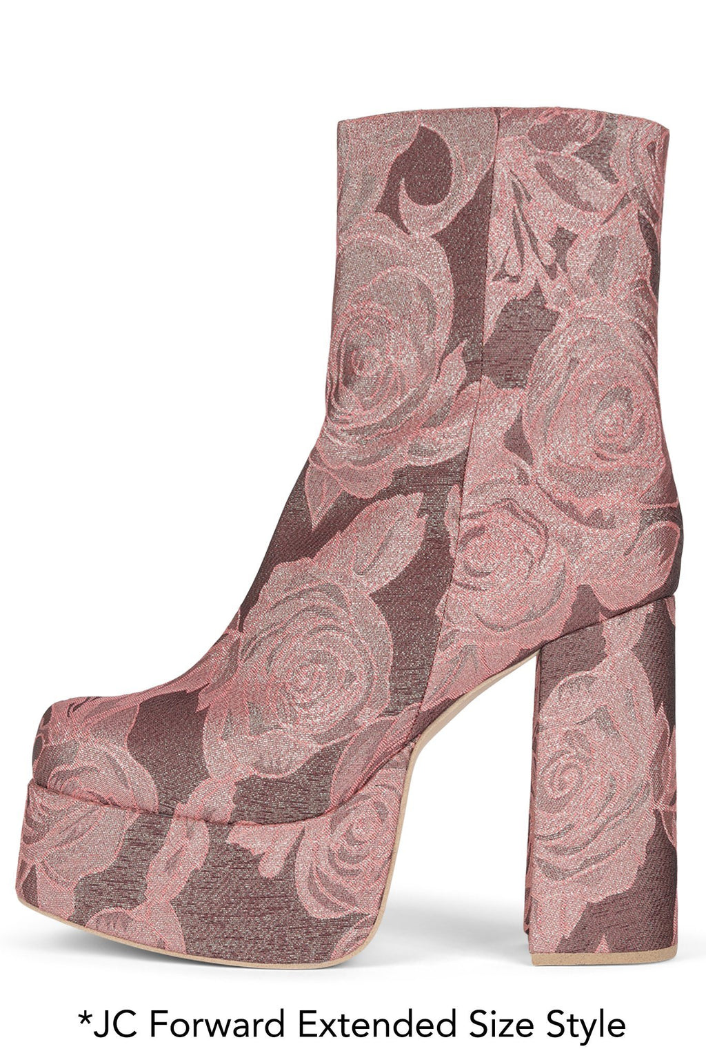 ARANEAE Platform Boot HS Pink Rose Fabric 12