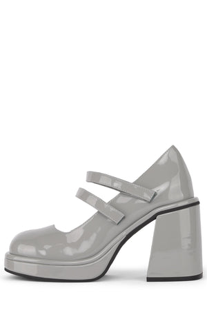 ARLON Mary-Jane HS Grey Patent 6
