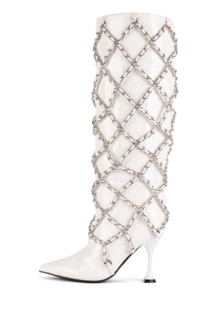 ARMOR Knee-High Boot STRATEGY White Patent 6