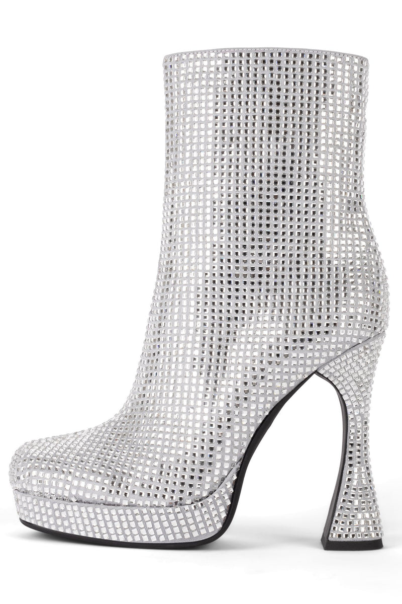 BEL-AIR-JL Platform Boot STRATEGY Grey Satin Silver 6