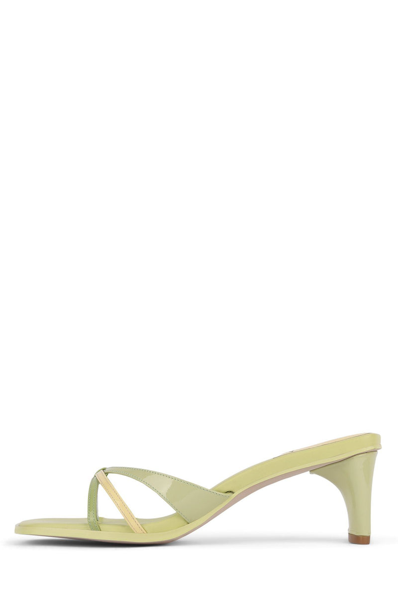 BEL-AMI Heeled Sandal Jeffrey Campbell Green Yellow Multi 6
