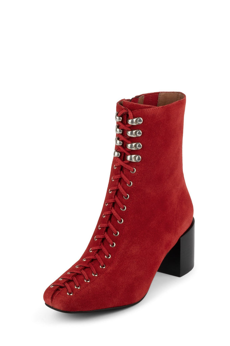 BELMONDO-2 Heeled Bootie Jeffrey Campbell Red Suede 6