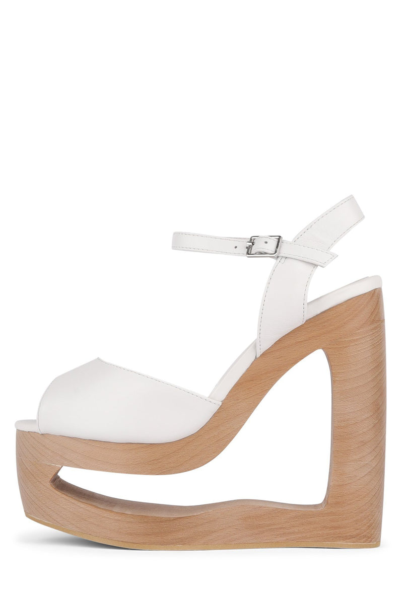 BLAZED Wedge Sandal HS White 6