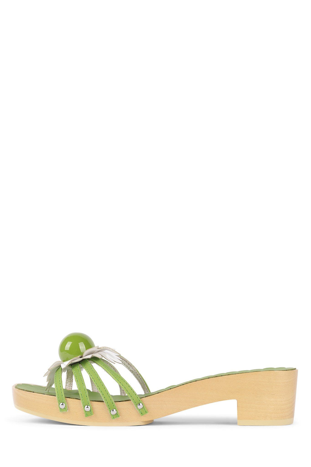 BLOSSOMS Heeled Sandal Jeffrey Campbell Green Combo 6
