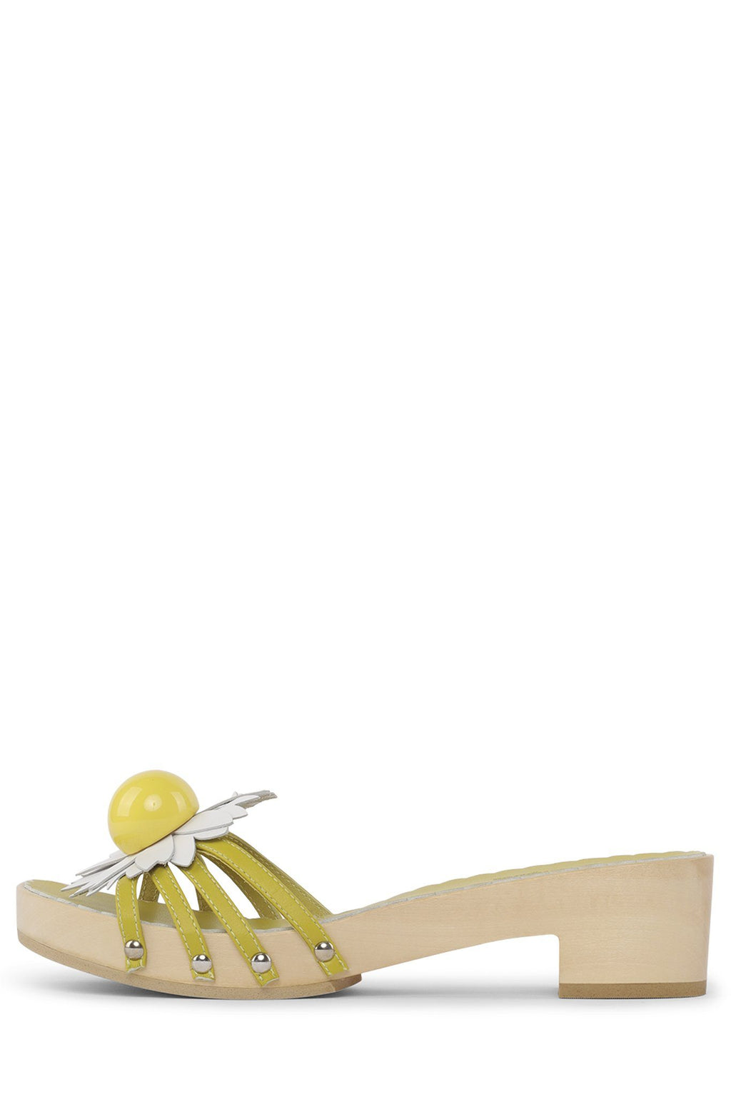 BLOSSOMS Heeled Sandal STRATEGY Yellow White 6