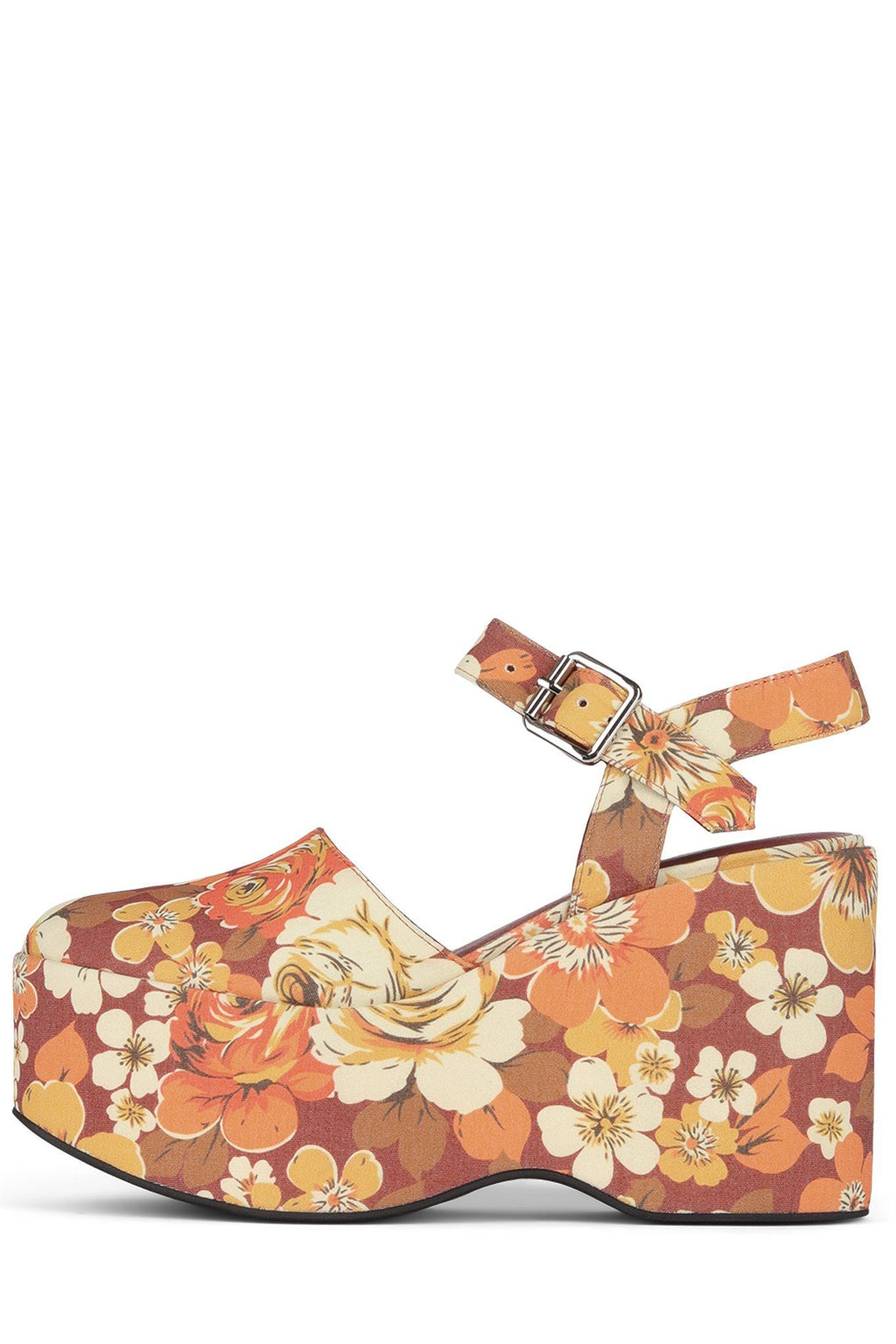 BOHEMIAN Platform Sandal YYH Orange Flowers 6
