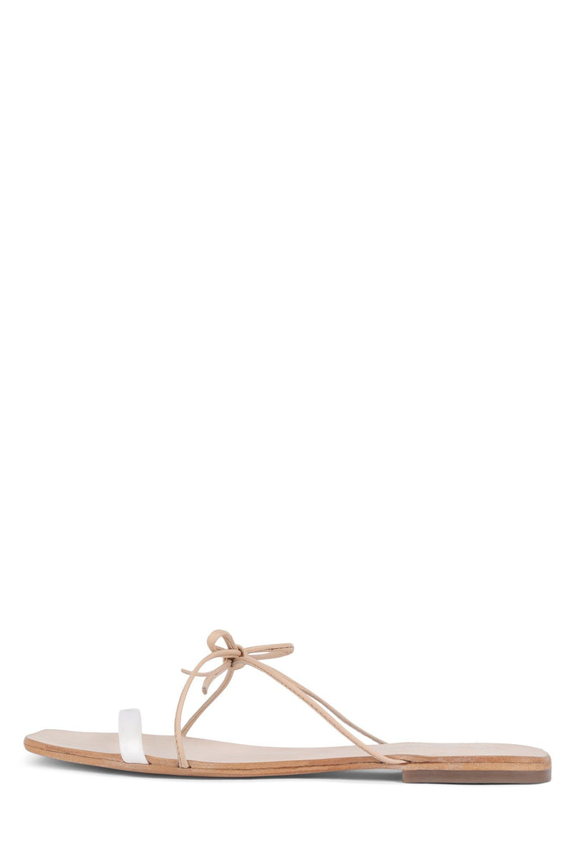 BOWZIE Flat Sandal Jeffrey Campbell Natural White 6