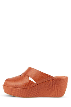 BREAH Platform Sandal ST Orange Lizard 6