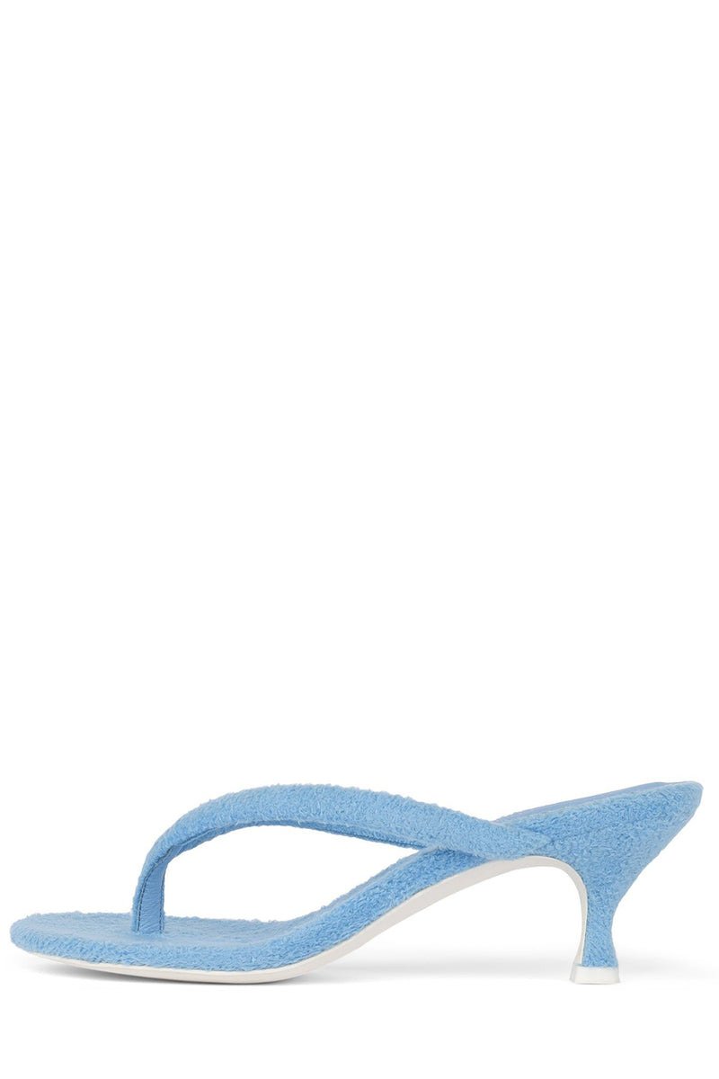 BRINK Heeled Sandal STRATEGY Blue Terry Cloth 6