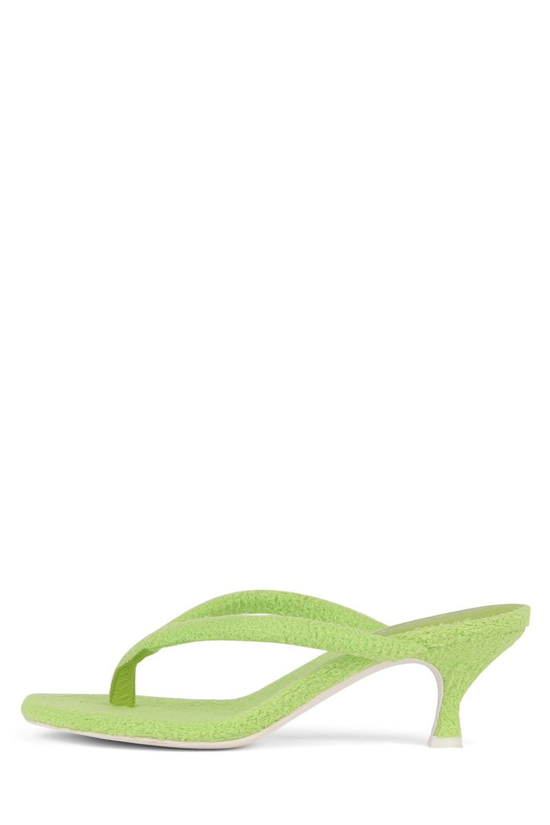 BRINK Heeled Sandal STRATEGY Green Terry Cloth 6