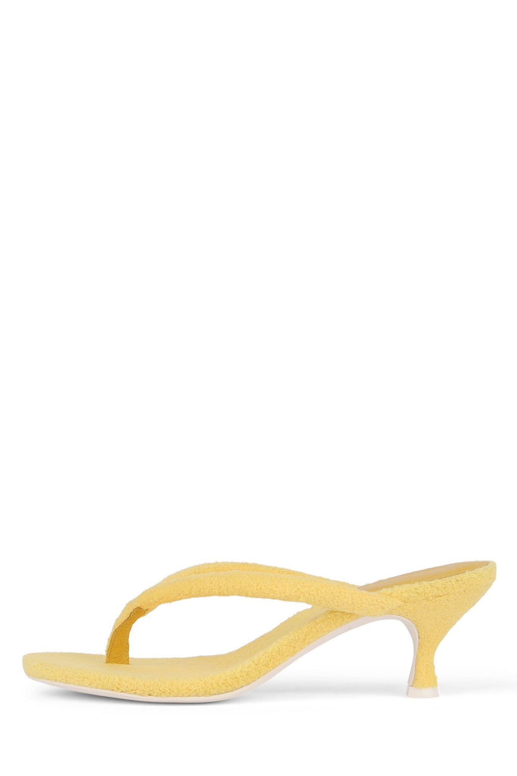 BRINK Heeled Sandal STRATEGY Yellow Terry Cloth 6