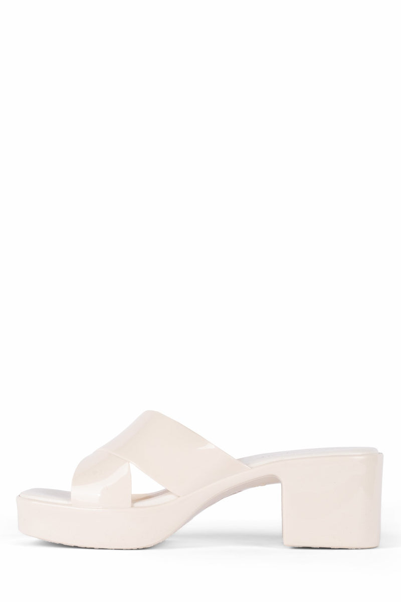 BUBBLEGUM Jeffrey Campbell Cream Shiny 6