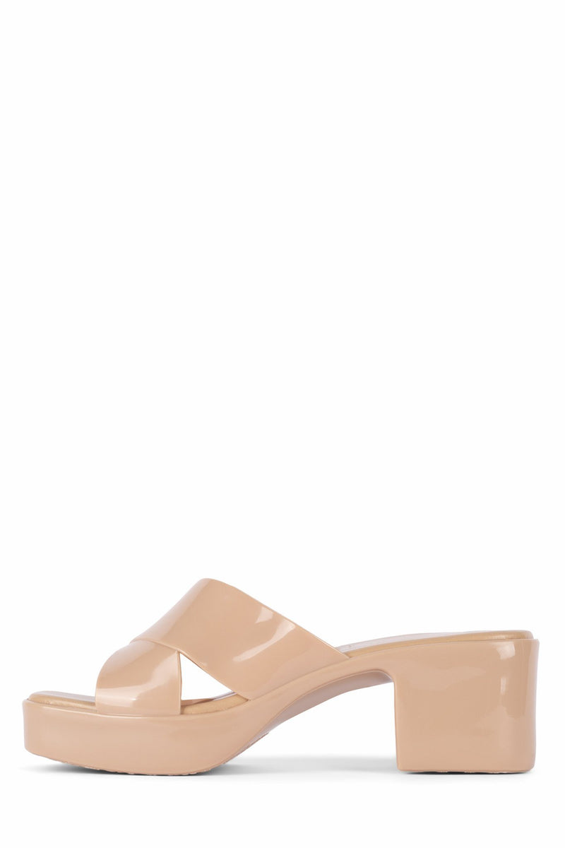 BUBBLEGUM Jeffrey Campbell Nude Shiny 6
