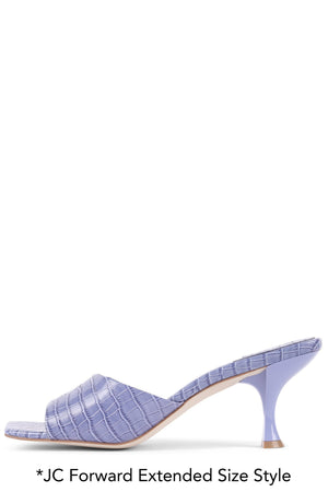 BUBBLES Heeled Sandal YYH Periwinkle Croco 12