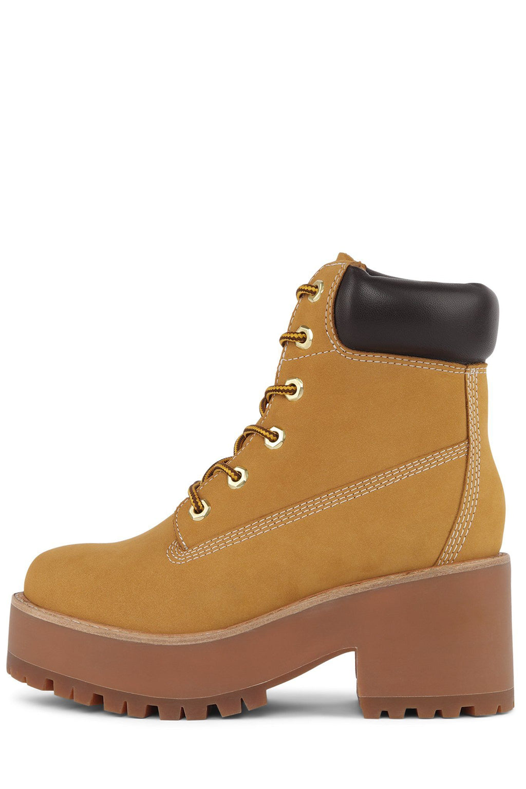 BULLDOZE Boot Jeffrey Campbell Wheat Combo 5.5