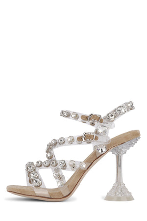 CALATH-HI Heeled Sandal ST Nude Suede Silver Clear 6