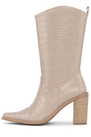 CALIMITY Mid-Calf Boot YYH Nude Croco 6