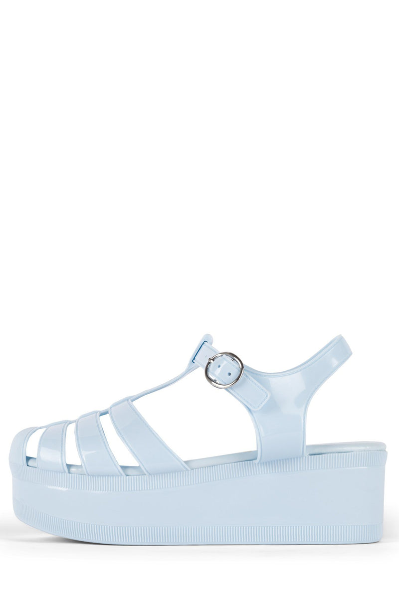 CANDIED Jeffrey Campbell Baby Blue Shiny 6