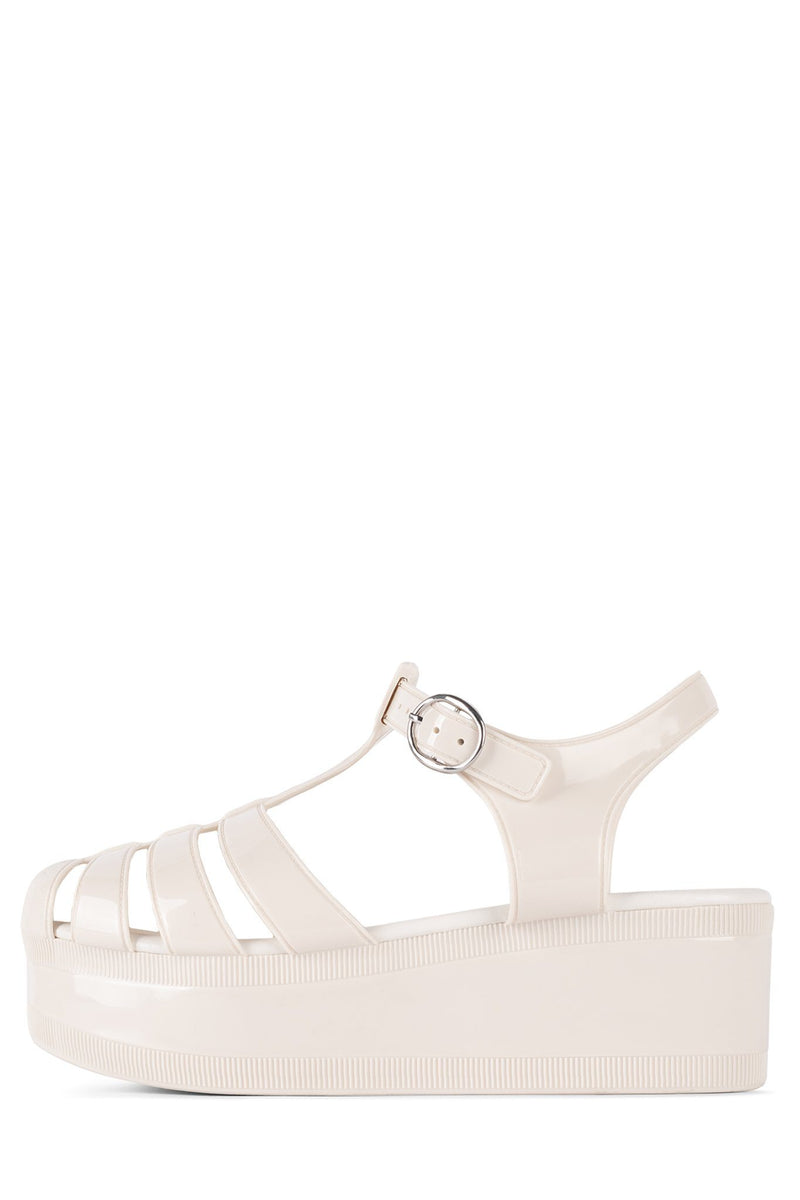 CANDIED Jeffrey Campbell Cream Shiny 6