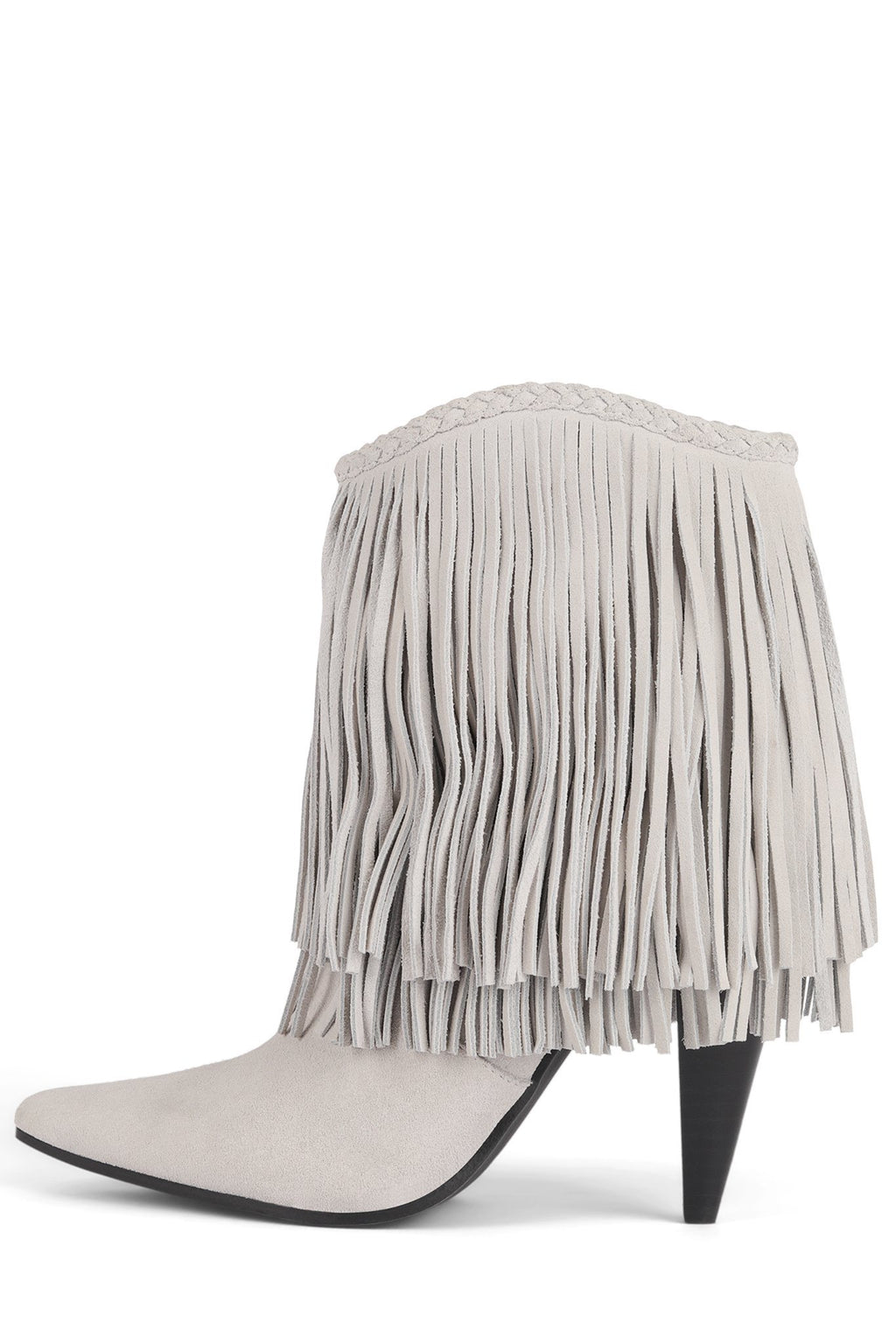 CAVORTS Heeled Bootie YYH Ivory Suede 6