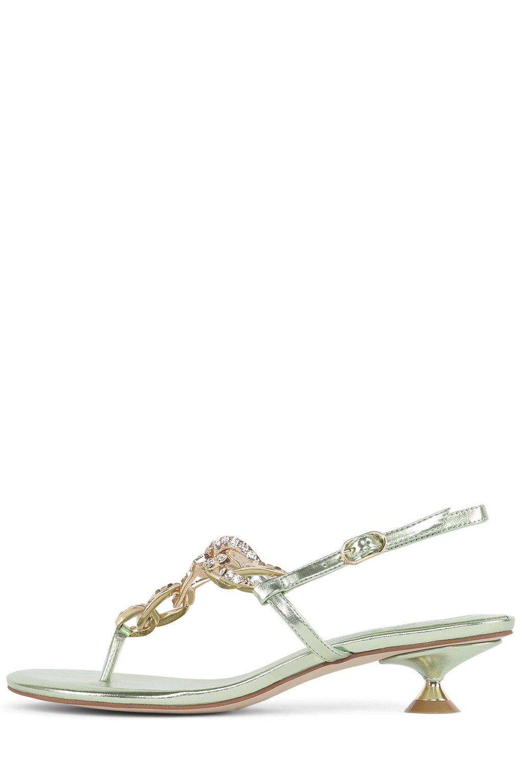 CHAIN-HI Heeled Sandal STRATEGY Mint Metallic 6