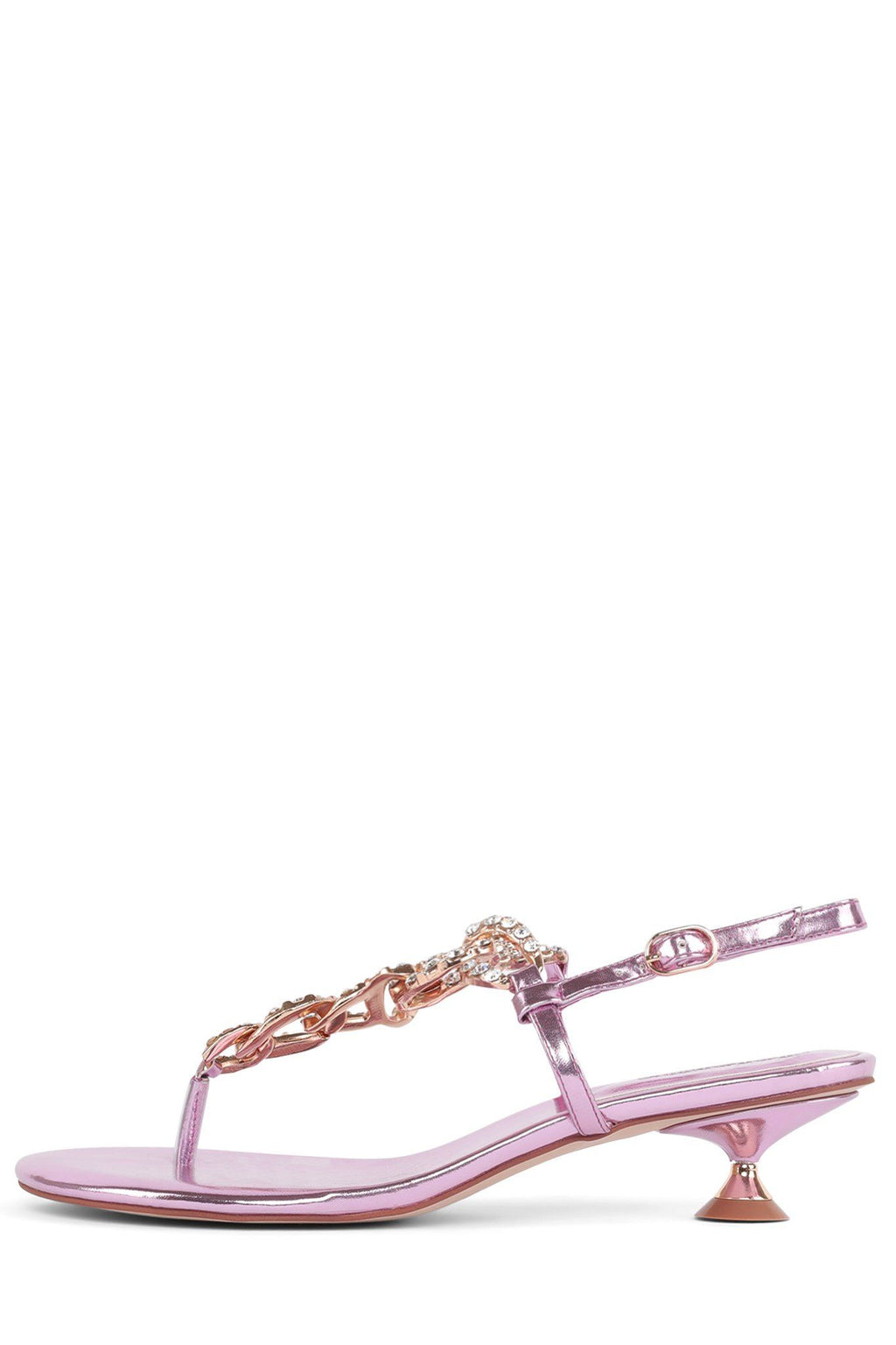 CHAIN-HI Heeled Sandal STRATEGY Pink Metallic 6