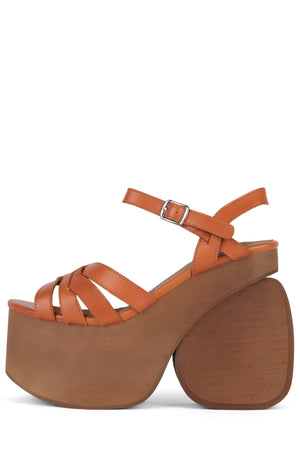 CHIQUITA Platform Sandal Jeffrey Campbell Orange 6