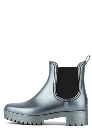 CLOUDY Rain Boot Jeffrey Campbell Blue Iridescent 6