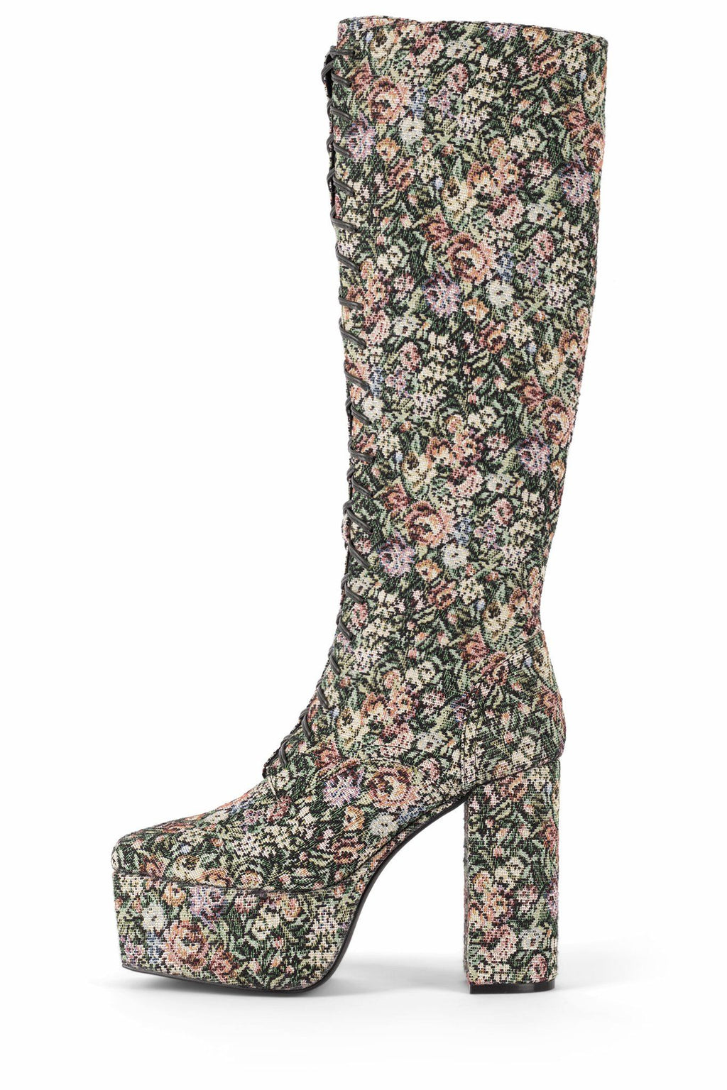 CLOVED-LU Knee-High Boot DV Floral Tapestry 5