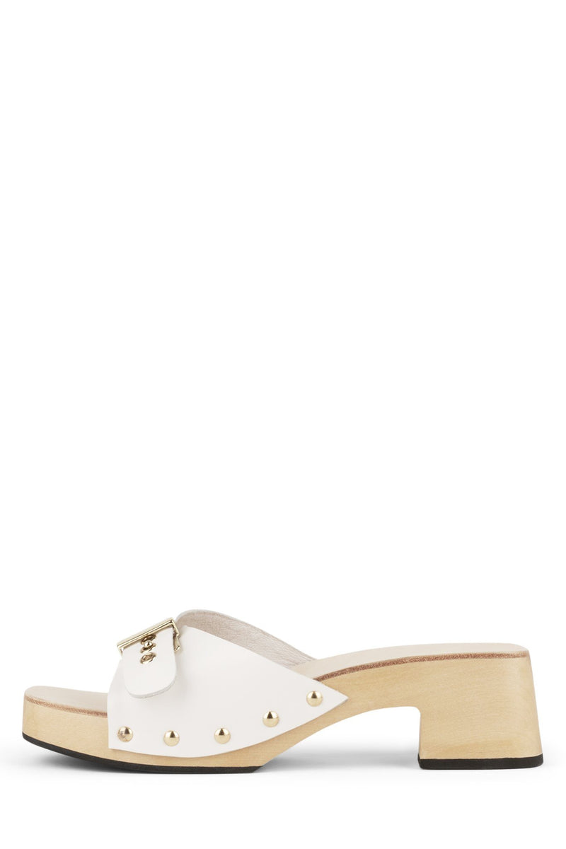 CLUELESS-B Heeled Mule Jeffrey Campbell White 6