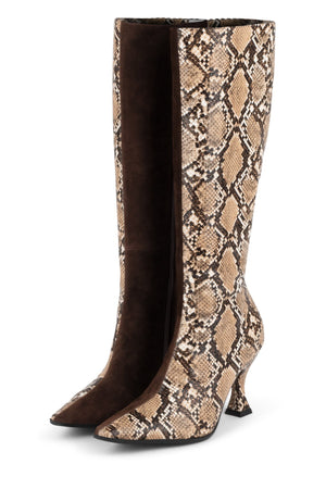 CORRODE Knee-High Boot YYH Beige Black Snk Brown Su 6