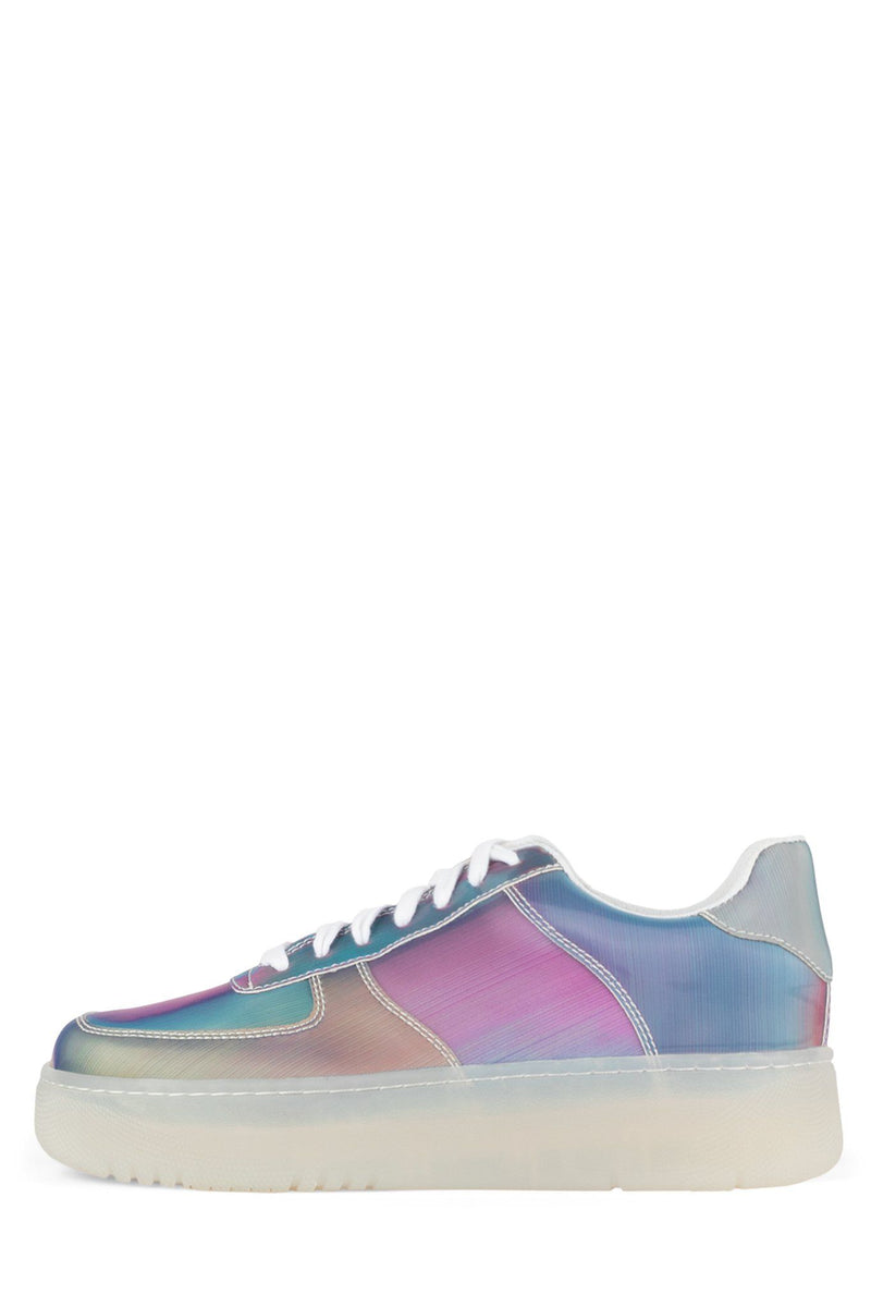 COURT Sneaker Jeffrey Campbell Blue Holographic 6