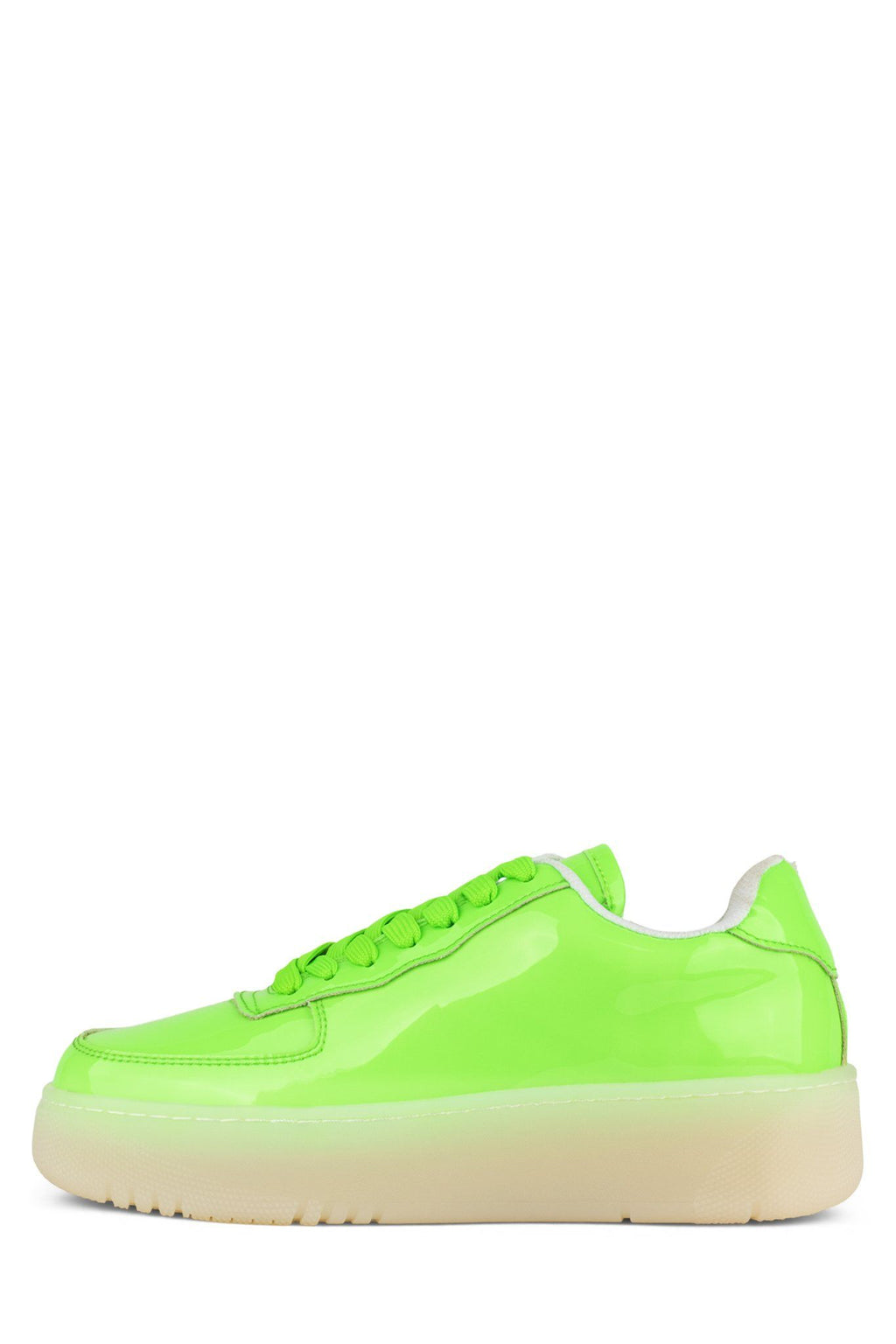 COURT Sneaker Jeffrey Campbell Dusty Neon Green Pat Clr 6
