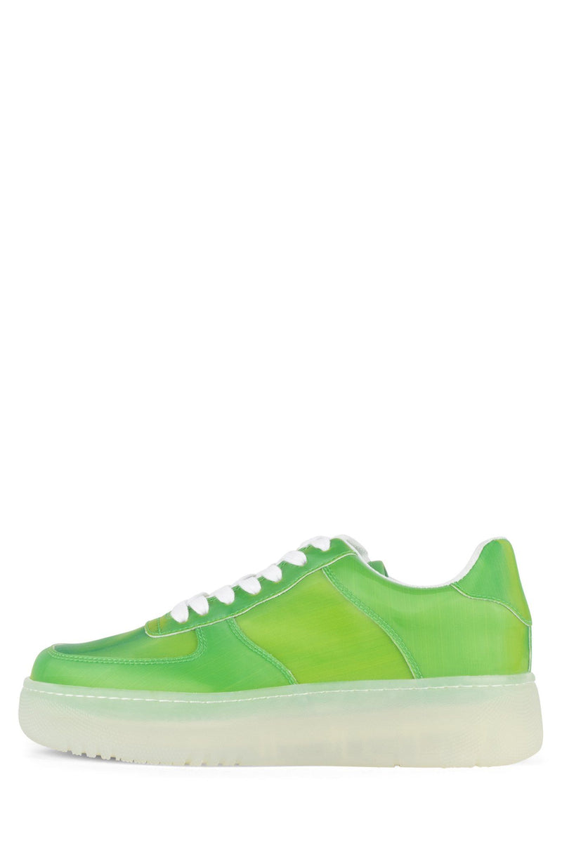COURT Sneaker Jeffrey Campbell Green Holographic 6