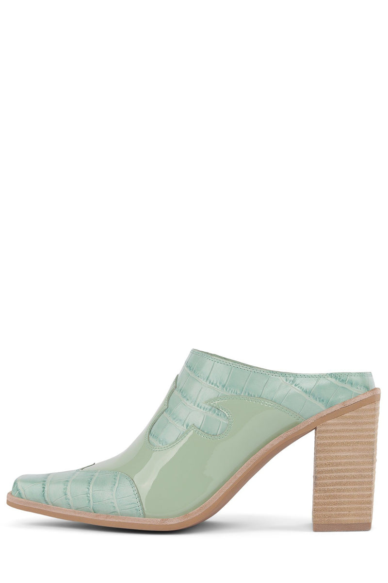 COWGIRL Heeled Mule YYH Mint Exotic Combo 6