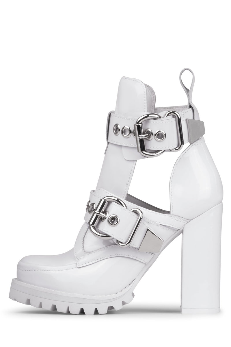 CRAVEN Heeled Bootie HS White Box Silver 6